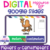 Google Slides: Meters or Centimeters | Distance Learning