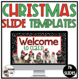 Google Slides Morning Message Templates - Christmas Pet Theme