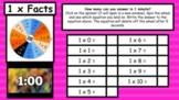 Google Slides Multiplication Facts (1-10) Spinner Timed Te