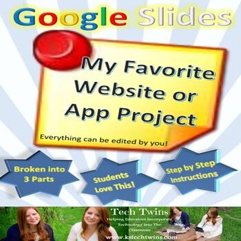 Google Slides - My Favorite Website or App Project