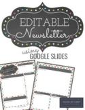 Google Slides Newsletter Template. Bright Colorful Newsletter Template