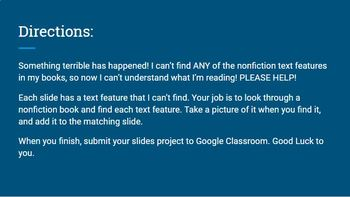 Google Slides Nonfiction Text Feature Hunt