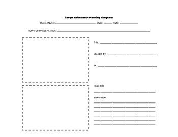 Google Slides: Notes and Presentation Planner