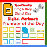 Google Slides ™︱Number of the Day Dice Game - Distance Learning