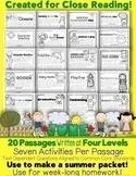 "Google Slides™ & PDF Summer Review ""20 June Close Reading"