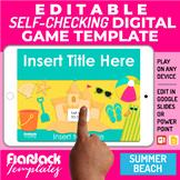 Google Slides PPT Game Template | Digital Editable Self-Ch