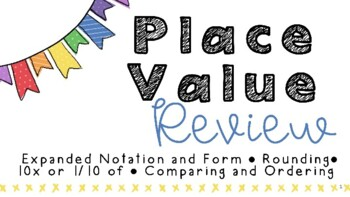 Google Slides Place Value STAAR Review for TEKS 4.2A, 4.2B, 4.2C, and 4.2D