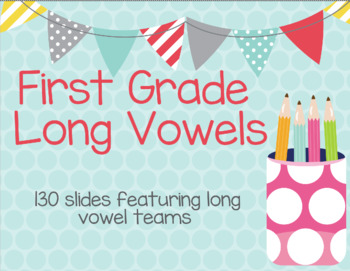 Google Slides Presentation featuring Long Vowel Words