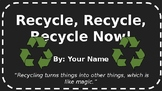 Google Slides/PowerPoint Recycling Tasks