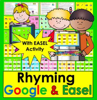Google Slides Digital Rhyming Activities- Kindergarten & First Grade #TptDigital
