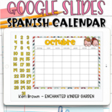 Google Slides SPANISH Calendar | Yearly Digital Calendar
