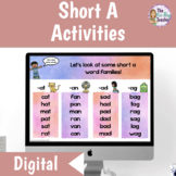 Short A Word Work | Distance Learning
