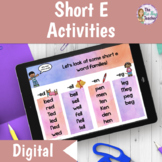 Short E Word Work | Distance Learning