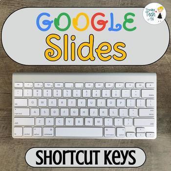 Google SLIDES Useful Shortcut Keys - Editable!
