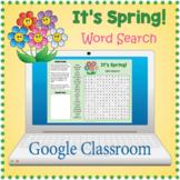 DIGITAL SPRING Word Search Puzzle Worksheet Activity - Google Slides