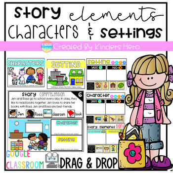 Story Elements Characters and Settings for Google Slides Distance Learning