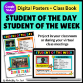 Student of the Day|Student of the Week Posters and Class Book| Google Classroom