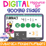 Google Slides: Subtract Mixed Fractions with Visual Models