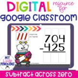 Google Slides: Subtraction Across Zero with 3 Digit Number
