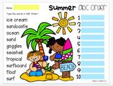 Google Slides: Summer ABC Order - 3 Slides (Digital Resource)