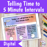 Telling Time to 5 Minute Intervals | Distance Learning