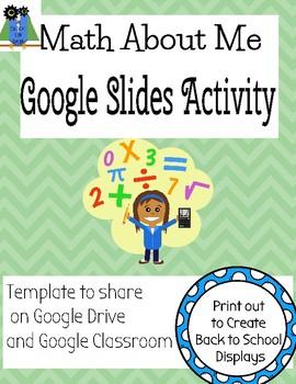 Google Slides Template- Math about Me activity