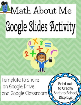 Google Slides Template- Math about Me activity