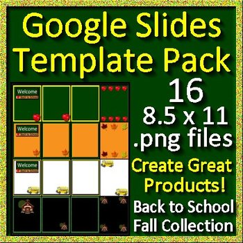 Google Slides Template Pack Back to School and Fall for Your Paperless Projects