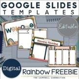 Google Slides Templates Boho Rainbow FREEBIE