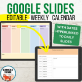 Google Slides Templates Daily Assignments EDITABLE Weekly Student Planner