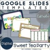 Google Slides Templates | Editable | Spring Tea Party