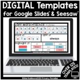 Digital Student Templates for Google Slides & Seesaw Preloaded Manipulatives
