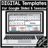 Distance Learning Digital Student Templates for Google Sli