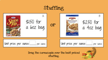 Comparing Rates (Thanksgiving Themed) Digital Resource
