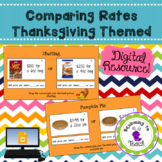Google Slides Thanksgiving Rates Activity