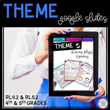 Theme - 4th & 5th Grade RL.4.2 / RL.5.2 Google Classroom Distance Learning Pack