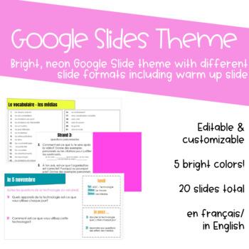 Google Slides Theme - Bright, Neon (Editable)