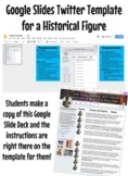 Google Slides Twitter Template: Tweets from a Historical Figure