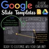 Google Slides Unit Template: Classic Chalkboard
