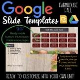Google Slides Unit Template: Farmhouse Fall