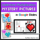 Valentine's Day Multiplication Mystery Picture Activities