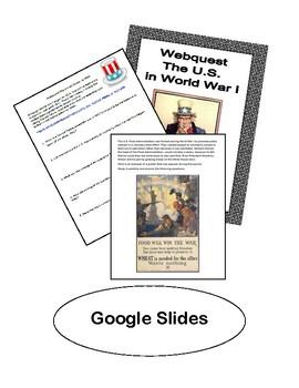 Google Slides--WebQuest-The United States in World War 1