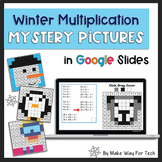 Winter Multiplication Mystery Picture Activities in Google Slides
