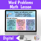 Word Problems Lesson for Distance Learning