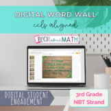 Google Slides Word Wall 3rd Grade NBT - Digital & PDF