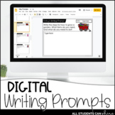 Google Slides - Writing Prompts For The Year {Distance Learning}