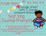 Google Slides Year Long Journal Prompts for every Subject (NO PREP)
