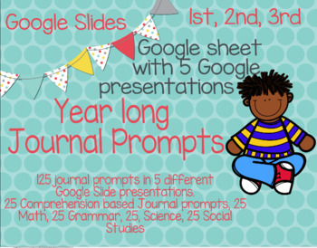 Google Slides Year Long Journal Prompts for every Subject