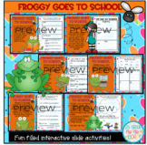 Google Slides for Froggy Goes to School...Literacy Companion