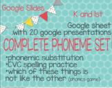 Google Slides for Phoneme Substitution (RTI, ESL, K, and 1st)